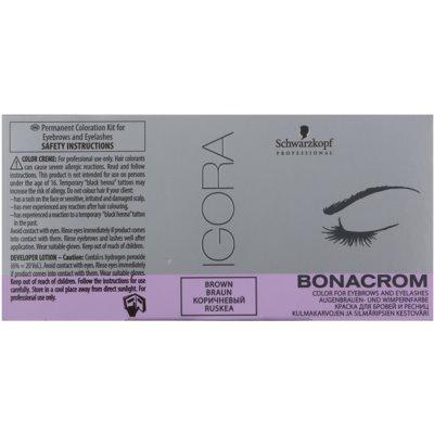 Schwarzkopf Professional Igora Bonacrom Eyebrow Dye with Activator
