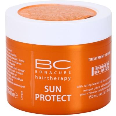 maseczka odżywcza do włosów narażonych na szkodliwe działanie promieni słonecznych