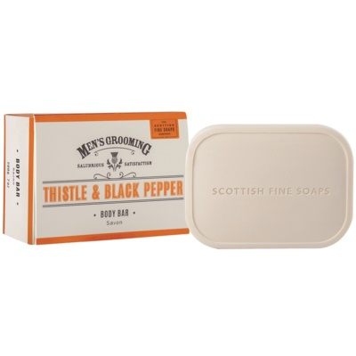 Scottish Fine Soaps Men's Grooming Thistle & Black Pepper Soap For Men
