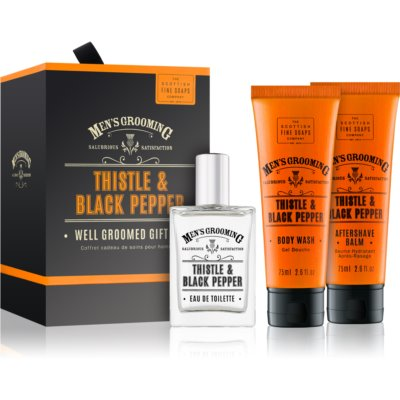 Scottish Fine Soaps Men's Grooming Thistle & Black Pepper Gift Set IV. (for Men)