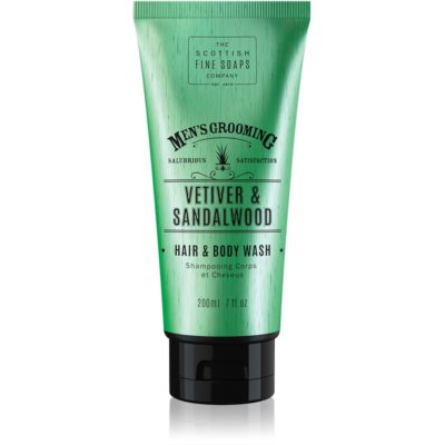 Scottish Fine Soaps Men's Grooming Vetiver & Sandalwood gel lavant corps et cheveux pour homme