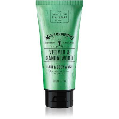 Scottish Fine Soaps Men's Grooming Vetiver & Sandalwood gel lavant corps et cheveux pour homme