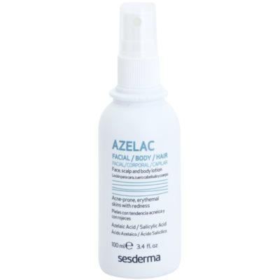 beruhigendes Tonikum zur Behandlung von fettiger Haut mit Akne