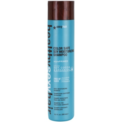 Champô hidratante para proteção da cor sem sulfatos e parabenos