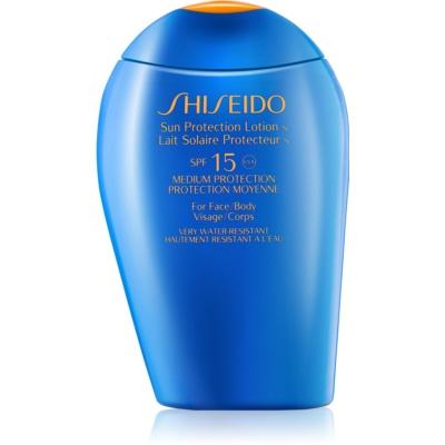 Shiseido Sun Protection αντηλιακό γάλα για πρόσωπο και σώμα SPF 15