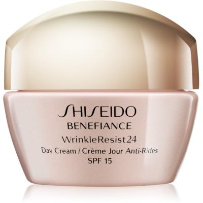 Shiseido Benefiance WrinkleResist24 crema de día  antiarrugas  SPF15