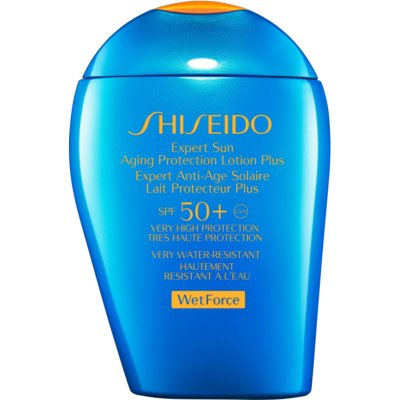 Shiseido Sun Care Expert Sun Aging Protection Lotion Plus WetForce Wasserfester Anti-Aging Sonnenschutz SPF 50+