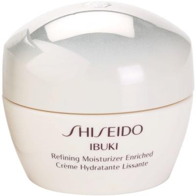 Shiseido Ibuki beruhigende und hydratisierende Creme strafft die Haut und verfeinert Poren