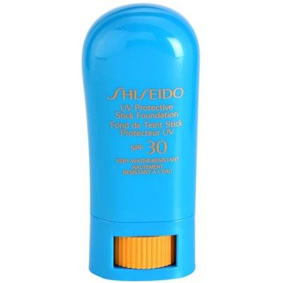 Shiseido Sun Foundation maquillaje protector resistente al agua en barra SPF 30