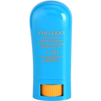 Shiseido Sun Foundation vodoodporen zaščitni make-up v paličici SPF 30