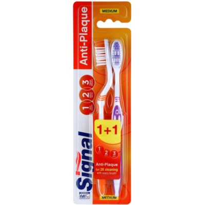 Signal Anti-Plaque Medium Toothbrushes 2 pcs