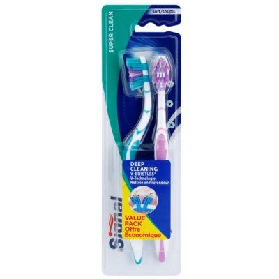 escova de dentes suave 2 pçs