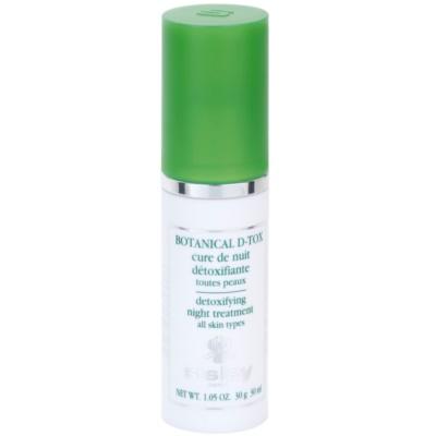Sisley Botanical D-Tox нощен серум за всички типове кожа на лицето