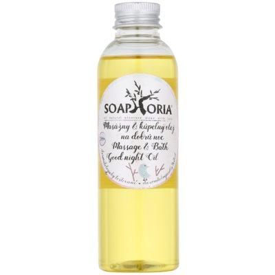 masážní a koupelový olej na dobrou noc pro děti