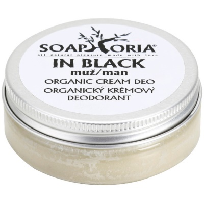 Soaphoria In Black Organic Cream Deodorant for Men
