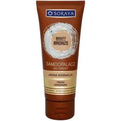 Soraya Beauty Bronze crème auto-bronzante visage pour peaux claires