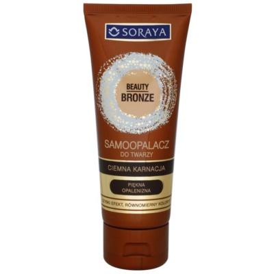 Zelfbruinende Gezichtscrème voor Donkere Huid