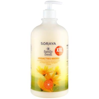krémový sprchový gel s medem