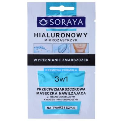 protivrásková hydratačná maska s kyselinou hyalurónovou