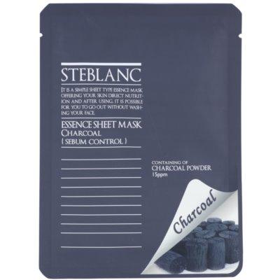 Steblanc Essence Sheet Mask Charcoal tisztító maszk zsíros bőrre