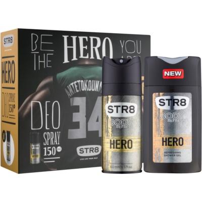 STR8 Hero darilni set II.  dezodorant v pršilu 150 ml + gel za prhanje 250 ml