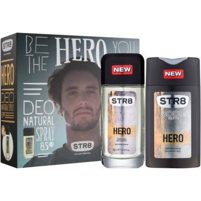 STR8 Hero Gift Set  Shower Gel 250 ml + Pump Spray Deodorant 85 ml