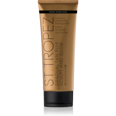 St.Tropez Gradual Tan Plus Sculpt and Glow crema corporal con color de bronceado gradual