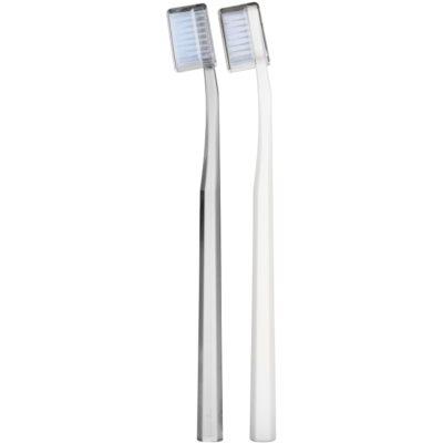 escovas de dentes média 2 pçs