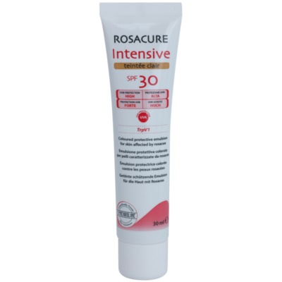 emulsión tonificante para pieles sensibles con tendencia a rojeces SPF 30