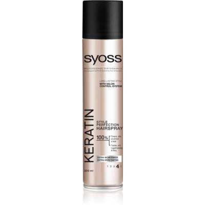 Syoss Keratin laque cheveux fixation extra forte