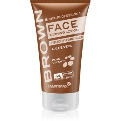 Tannymaxx Brown Face αντηλιακή κρέμα για σολάριουμ με μπρονζερ για  αύξηση της διαρκείας του μαυρίσματος