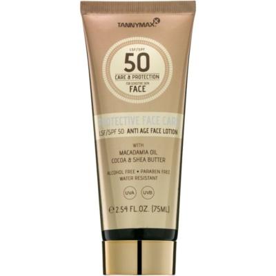 Tannymaxx Protective Body Care SPF Wasserfeste Sonnenschutzmilch für das Gesicht SPF 50