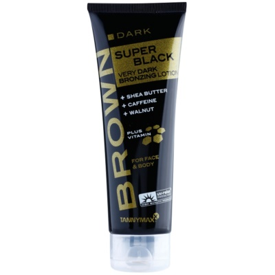 Tannymaxx Brown Super Black Dark Solarium Tanning Cream with Bronzer