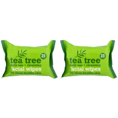 Tea Tree Facial Wipes tisztító törlőkendő az arcra