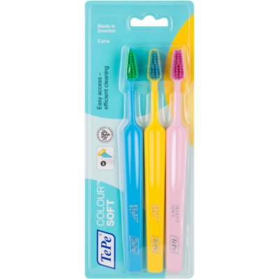 TePe Colour Soft Toothbrushes, 3 pcs