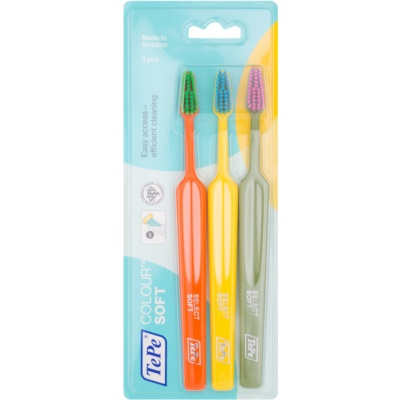 TePe Colour Soft brosses à dents 3 pièces