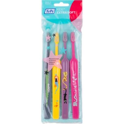 zubné kefky pre deti extra soft 4 ks