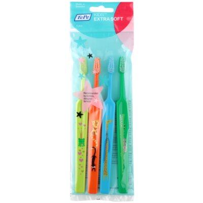 TePe Kids zobne ščetke za otroke ekstra soft 4 kos