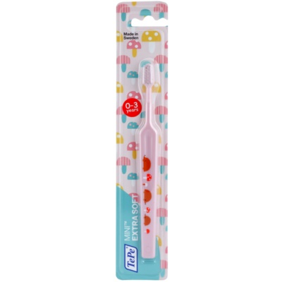 TePe Mini Illustration Toothbrush with Small Tapered Head for Kids Extra Soft