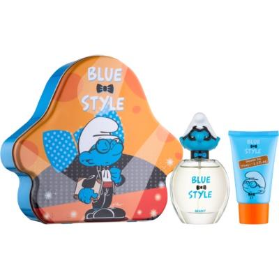 The Smurfs Blue Style Brainy σετ δώρου ΙΙ.  Eau de toilette 50 ml + τζελ για ντούς 75 ml