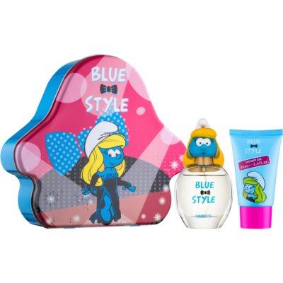 The Smurfs Blue Style Smurfette dárková sada I.  toaletní voda 50 ml + sprchový gel 75 ml