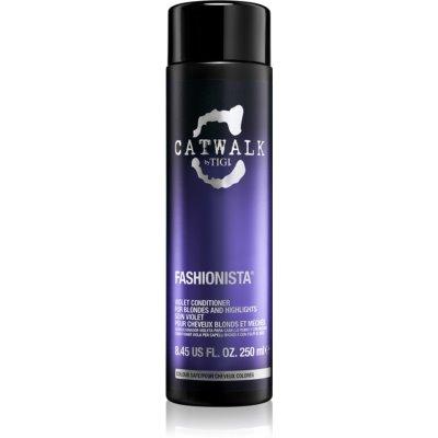 TIGI Catwalk Fashionista condicionador violeta para cabelo loiro e com madeixas