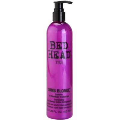TIGI Bed Head Dumb Blonde sampon a kémiailag kezelt hajra