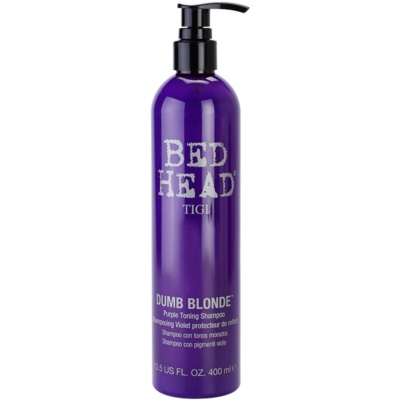 TIGI Bed Head Dumb Blonde lila tonizáló sampon szőke hajra