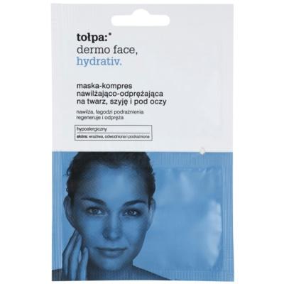 mascarilla hidratante intensiva  para rostro y contorno de ojos