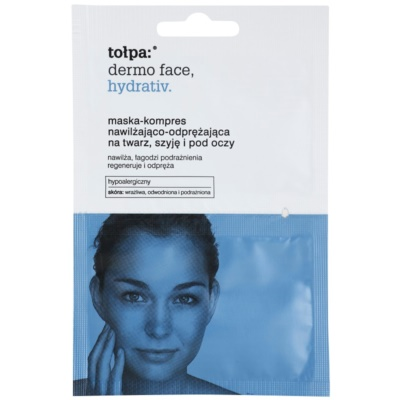 intenzívna hydratačná maska na tvár a očné okolie