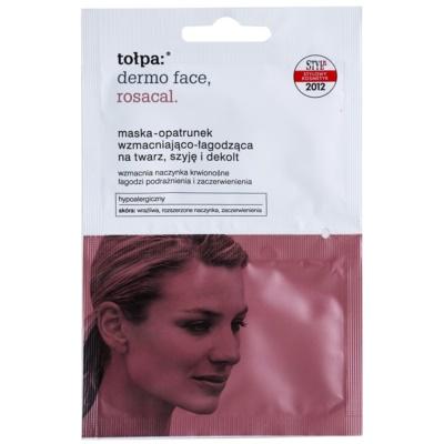 beruhigende Maske für gerötete und gereizte Haut für Gesicht, Hals und Dekolleté