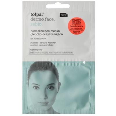 normalisierende tiefenwirksame Reinigungsmaske für Haut mit kleinen Makeln