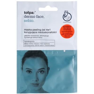 Tołpa Dermo Face Sebio masque-gommage-gel 4 en 1 pour peaux à imperfections