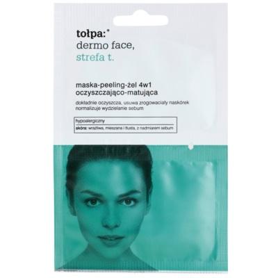 Peeling-Gel-Maske 4 in 1 für fettige Haut mit Neigung zu Akne